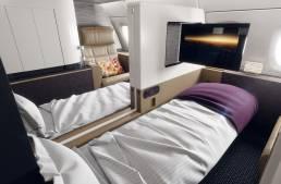 Aircraft interior render